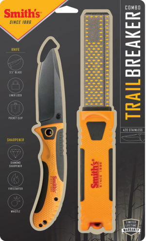 Smith's Sharpeners Trail Breaker Linerlock Combo (3.5″)