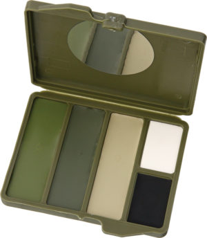 Camouflage Face Paint Woodland 5 Color Compact