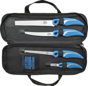 Camillus Cuda 6pc Knife/Sharpener Set
