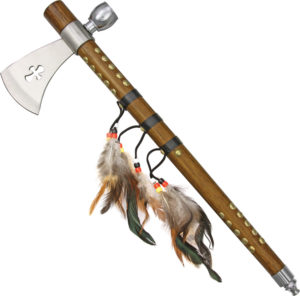 China Made Feather Tomahawk Peace Pipe