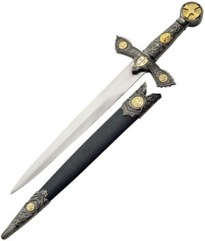 "China Made Knights Of Templar Dagger (9"")"