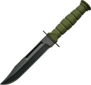 China Made Survival Fixed Blade OD Green (4.25″)