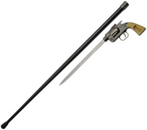 China Made Billy Kid Revolver Sword Cane (10.5″)