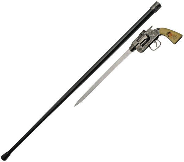 China Made Billy Kid Revolver Sword Cane (10.5″)