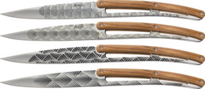 """Deejo Steak Knives Art Deco (4.25"""")"""