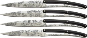 """Deejo Steak Bistro Knife Set Toile (4.25"""")"""