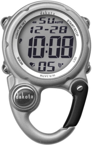 Dakota Digi Cute Clip Watch Silver