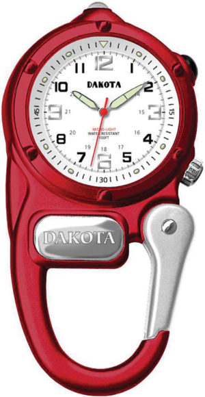 Dakota Mini Clip Microlight Watch Red