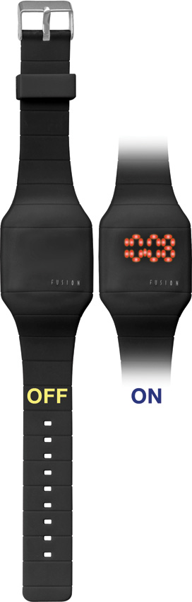 Dakota Fusion Black LED Wrist Watch