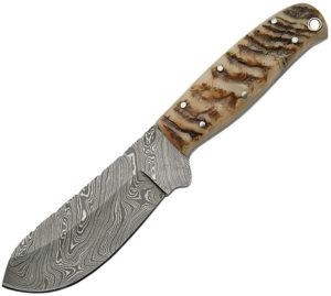 Damascus Big Game Skinner Ram Horn (4.25″)