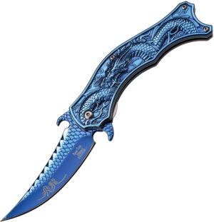 Dark Side Dragon Linerlock A/O Blue (3.25″)