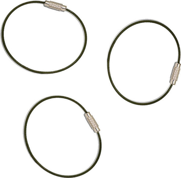 Everyman Cable Key Rings 3 Pack
