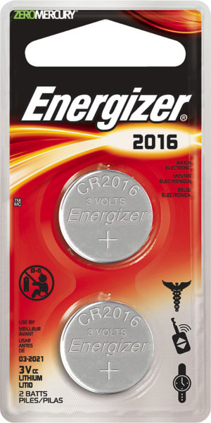 Energizer 2016 3V Battery 2-pack