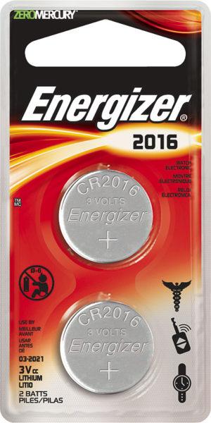 Energizer 2016 3V Battery 2-pack
