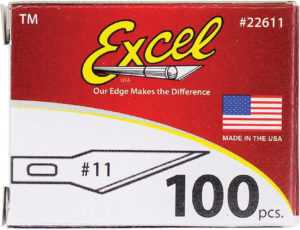Excel Blades No 11 Double Honed Blade 100pk