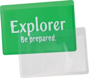 Explorer Credit Card Magnifier Lens