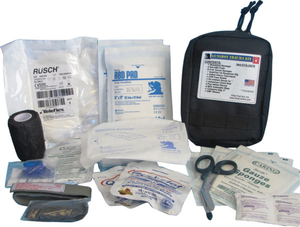 Elite First Aid Gunshot Trauma Kit Black