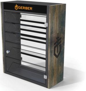 Gerber Display Wood Steel Counter