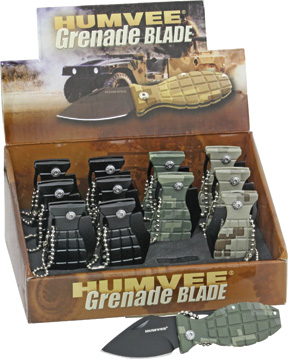 Humvee 12 Pack Mini Grenade Knives