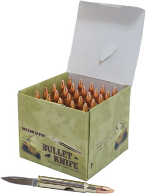 Humvee 25 Piece Bullet Knife Display