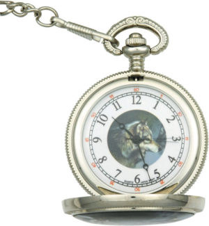 Infinity Wolf Pocket Watch