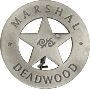 Badges Of The Old West Marshal Deadwood Badge