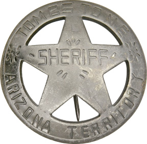 Badges Of The Old West Tombstone Arizona Terr Sheriff