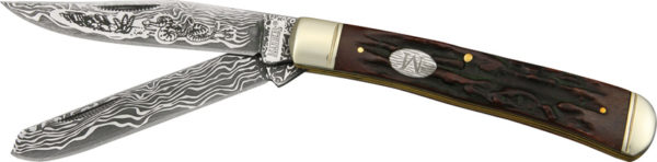 Marbles Trapper Etched Damascus Series
