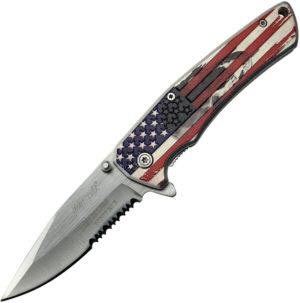 MTech American Flag Framelock A/O (3.25″)