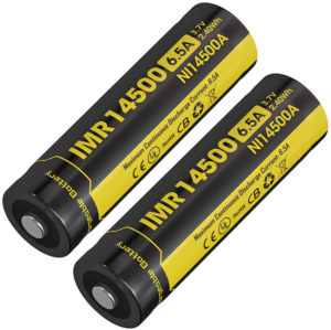 Nitecore IMR 14500 Li-ion Battery 2-Pk