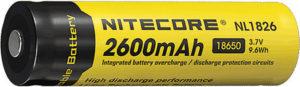 Nitecore Rechargable 18650 Battery 2600