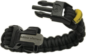 Outdoor Element Kodiak Survival Bracelet Black