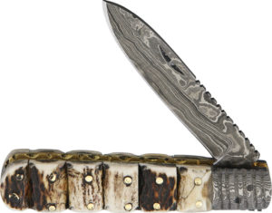 Old Forge Barlow Damascus Stacked Stag (3.125″)