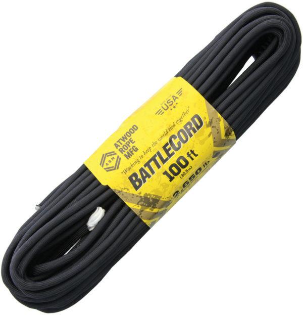 Atwood Rope MFG BattleCord Black 100 ft