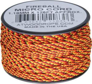 Atwood Rope MFG Micro Cord 125ft Fireball