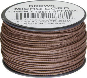 Atwood Rope MFG Micro Cord 125ft Brown