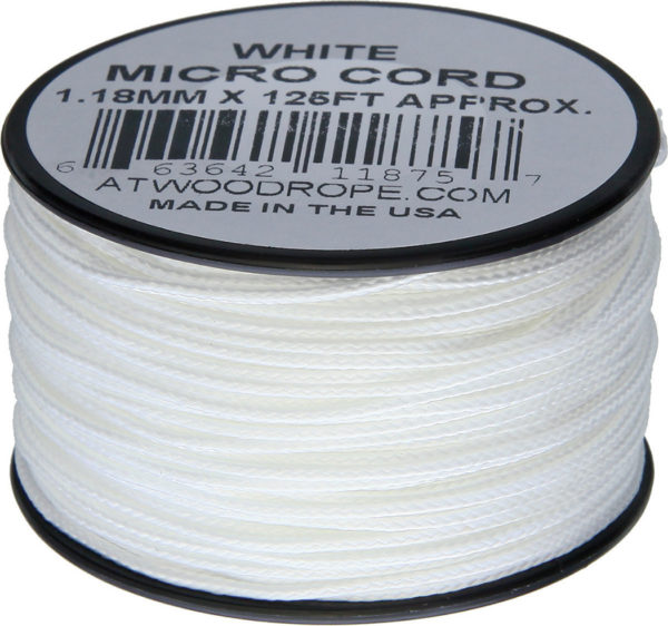 Atwood Rope MFG Micro Cord 125ft White