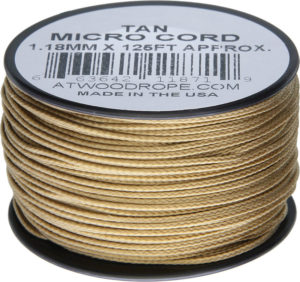 Atwood Rope MFG Micro Cord 125ft Tan