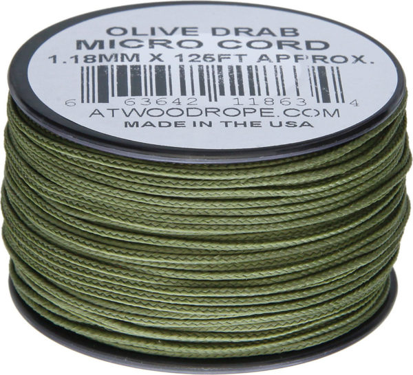 Atwood Rope MFG Micro Cord 125ft Olive Drab