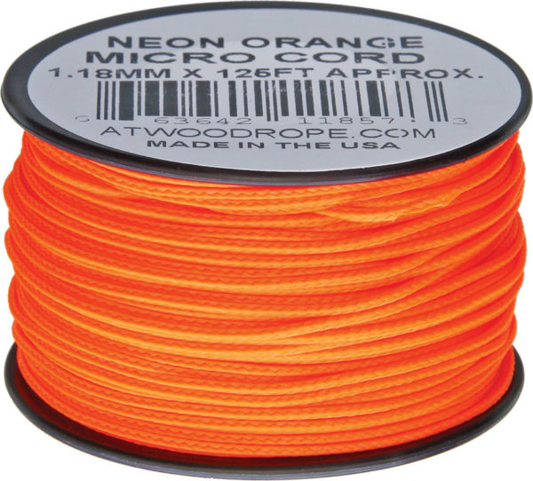 Atwood Rope MFG Micro Cord 125ft Neon Orange