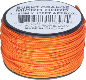 Atwood Rope MFG Micro Cord 125ft Burnt Orange