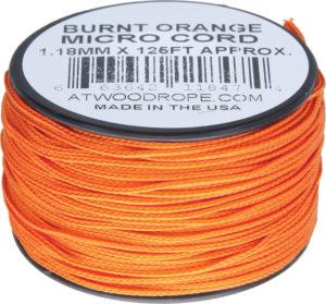 Atwood Rope MFG Micro Cord 125ft Burnt Orange