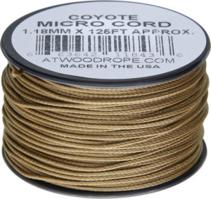 Atwood Rope MFG Micro Cord 125ft Coyote