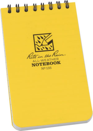 Rite in the Rain Top Spiral Yellow Notebook 3×5