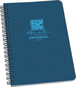 Rite in the Rain Side Spiral Notebook Blue