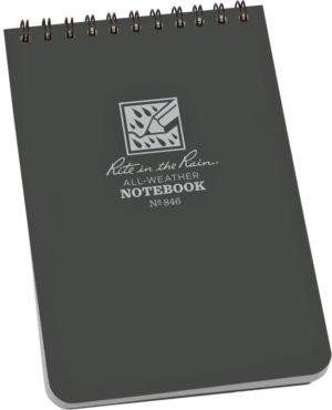 Rite in the Rain Top-Spiral Notebook 4×6 Gray