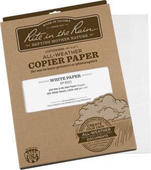 Rite in the Rain Copier Paper White 200 Sheets