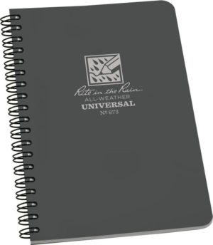 Rite in the Rain Side Spiral Notebook Gray