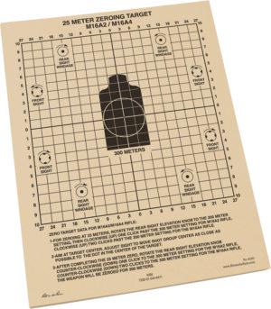 Rite in the Rain 25m Zeroing Target Sheets 100
