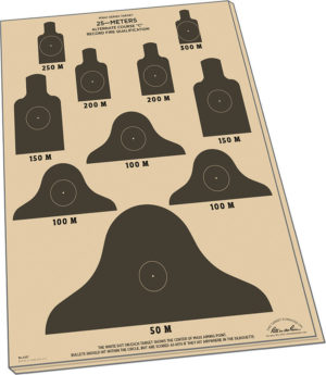 Rite in the Rain 25m Target Sheets M16A1 10